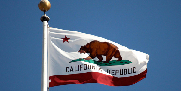 California Flag on Flagpole