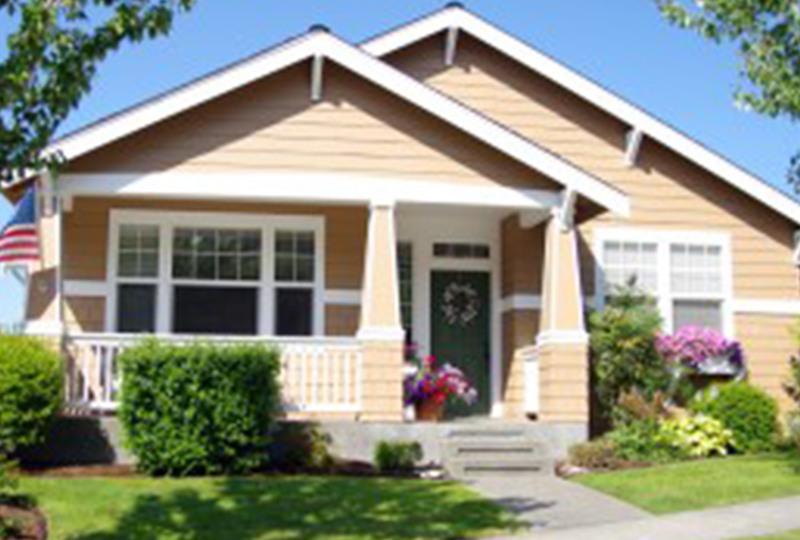 Exterior of a Bungalow Style Home